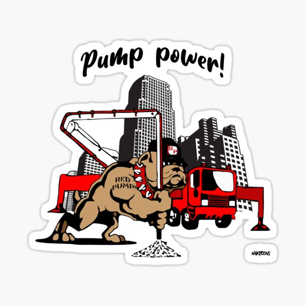 Red concrete pump bulldog Sticker
