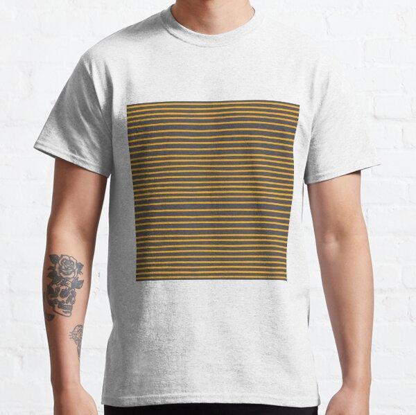 Gelbe Streifen auf inkwell grau Classic T-Shirt