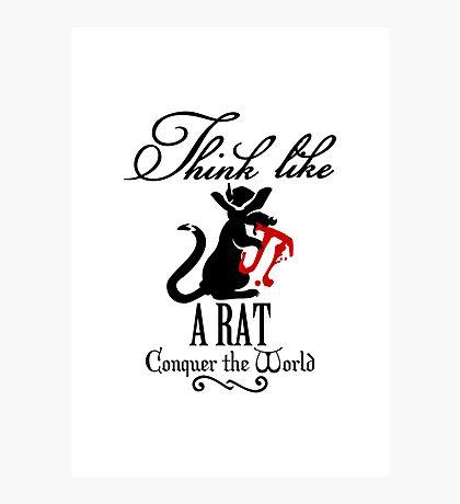 Think like a Rat VRS2 Photographic Print