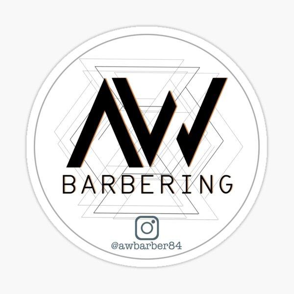 AW Barber Logo Sticker