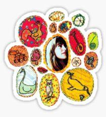 Joanna In Her Milk-Eyed Mender Flower Sticker