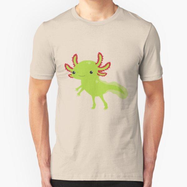 Cutesy Axolotl Slim Fit T-Shirt