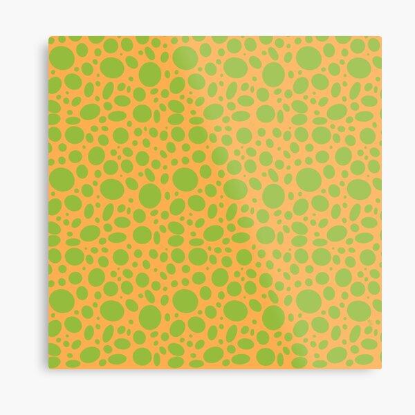 Grüne Punkte auf gelb Metallbild
