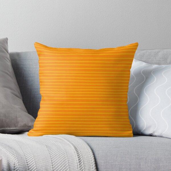 Gelbe Streifen auf orange Dekokissen
