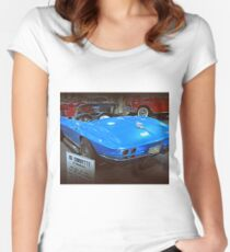 63 Corvette Sting Ray Women's Fitted Scoop T-Shirt