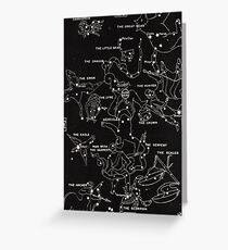 1920's Constellation Map Greeting Card