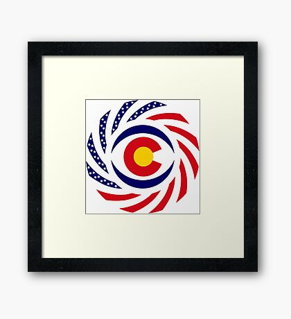 Coloradan Murican Patriot Flag Series Framed Print
