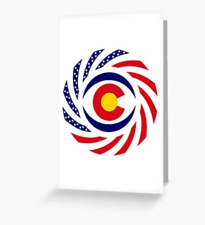 Coloradan Murican Patriot Flag Series Greeting Card