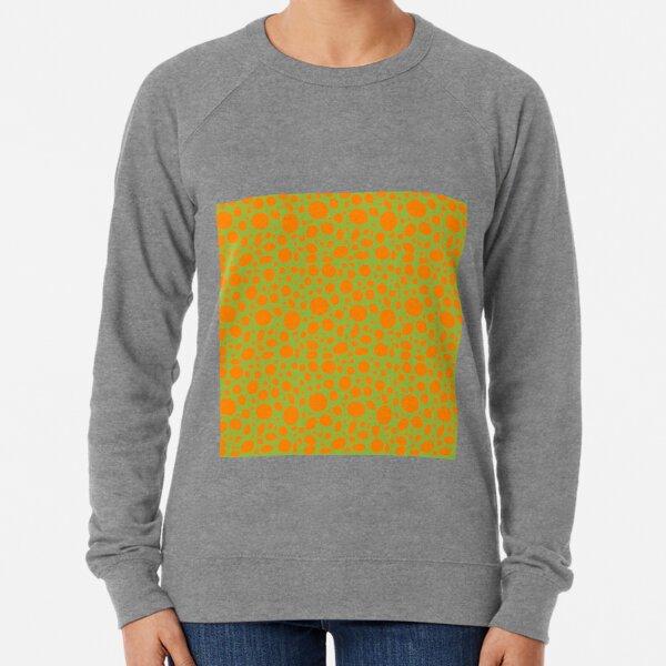 Orange Punkte auf grün  Leichter Pullover