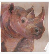 Not So Black Rhino Poster