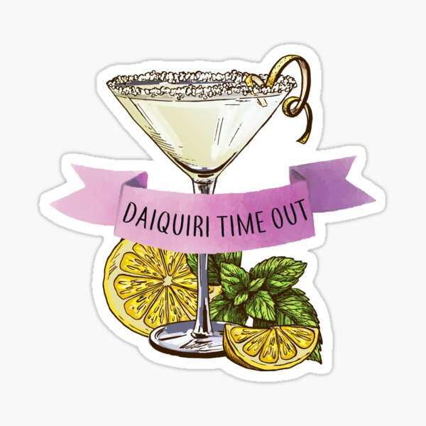 Daiquiri time out tank, daiquiri tank top, DTO, cocktail hour tank top, daiquiri shirt, womens cocktail, bartender tiki gift art Sticker