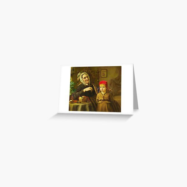 Little Red Riding Hood - Harriet Backer Greeting Card
