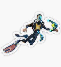 Diver Transparent Sticker