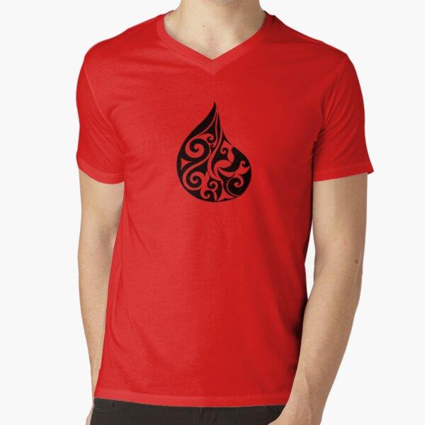 Hei Matau Tuarua  V-Neck T-Shirt