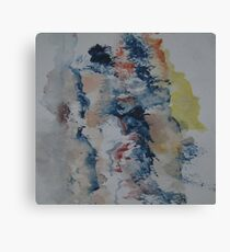 Abstract Watercolour Sketch Canvas Print
