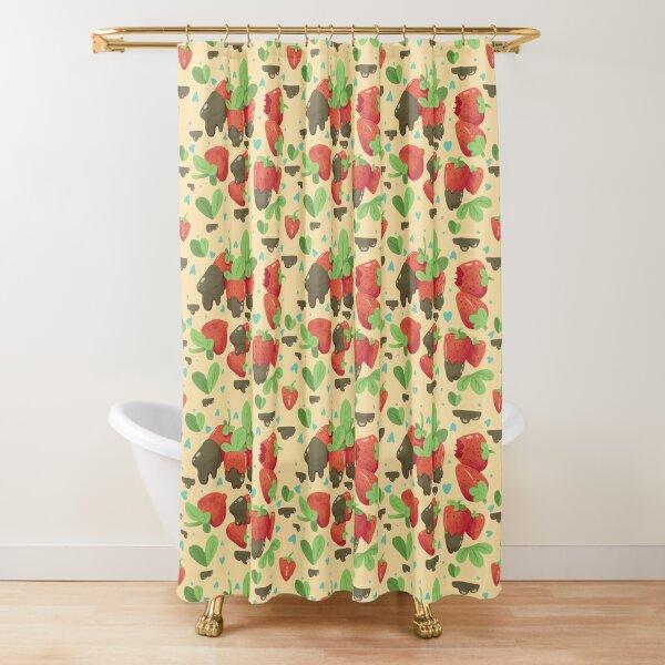 Strawberry Pattern Shower Curtain
