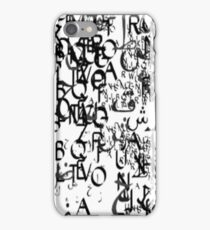 abstract typography_1 iPhone Case/Skin
