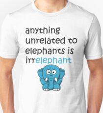 Funny Cartoon Elephant  Unisex T-Shirt
