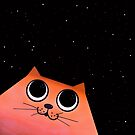 cat and stars by Marianna Tankelevich