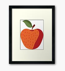 Elegant and Cool Apple Vector Design Framed Print