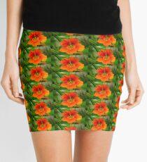 last autumn flower Mini Skirt