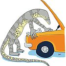 Goanna with a spanner by Joel Tarling