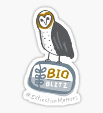 BioBlitz Masked owl logo Sticker