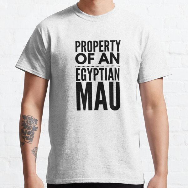 Egyptian mau design for Egyptian mau cat breed owners Classic T-Shirt