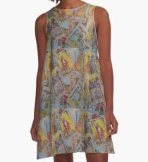 Tarot Zeit A-Linien Kleid