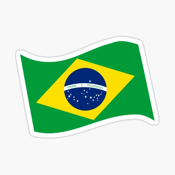 Brazilian  Flag  Design  Sticker