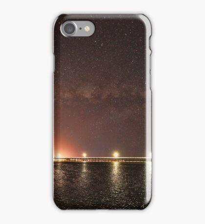 Milky Way over Urangan Pier iPhone Case/Skin