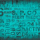 grungy typo turquoise by artsandsoul