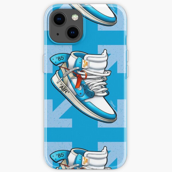 blanco roto UNC Jordan 1 Funda blanda para iPhone