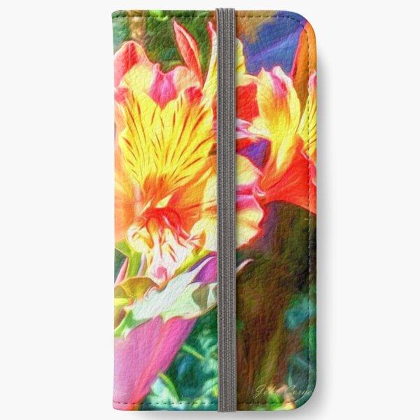 Alstroemeria Peruvian Lily Flowers iPhone Wallet
