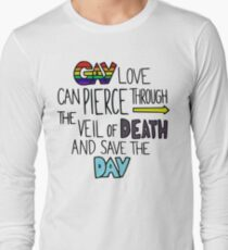 """Ghostfacers """"Gay Love"""" Quote Long Sleeve T-Shirt"""