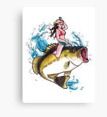 Britt Kicks Bass Canvas Print