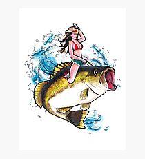 Britt Kicks Bass Photographic Print