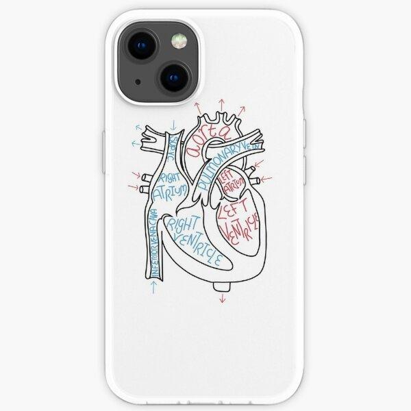 wissenschaftliches anatomisches Herz beschriftet iPhone Flexible Hülle