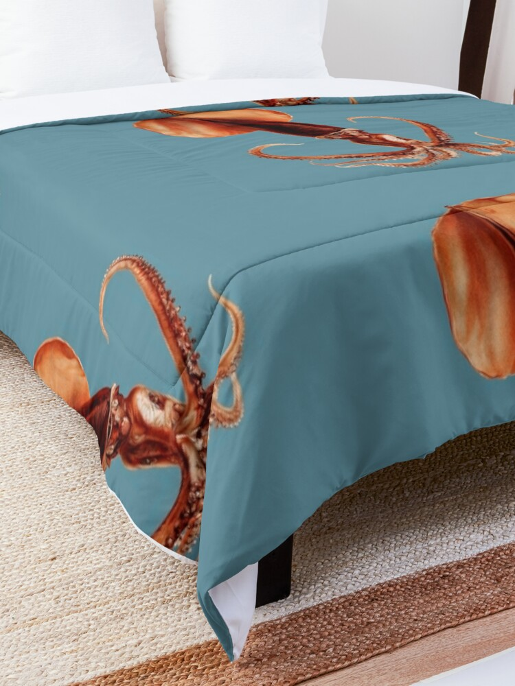 Alternate view of Octopus Two Comforter