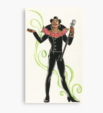 Ruby Rhod Pin-Up Canvas Print