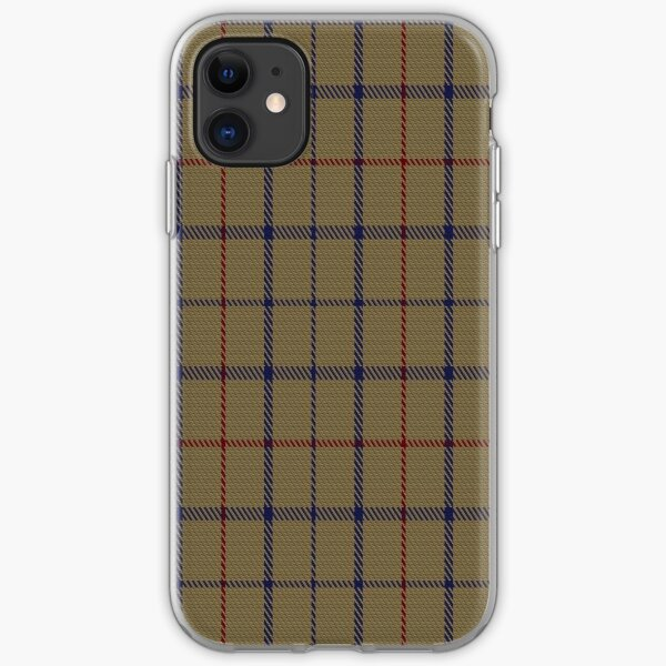 01776 Brooks Brothers Tattersall Camel Fashion Tartan  iPhone Soft Case