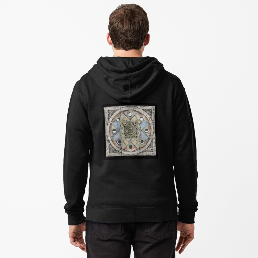 Spiral eight: cycles Zipped Hoodie