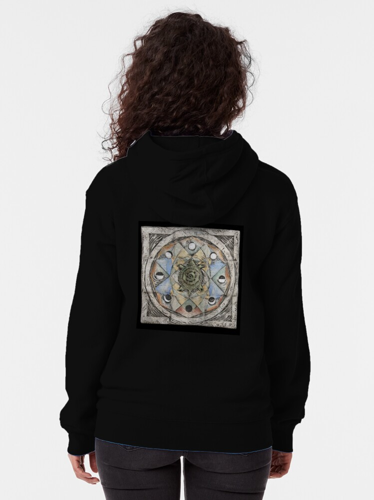 Alternate view of Spiral eight: cycles Zipped Hoodie
