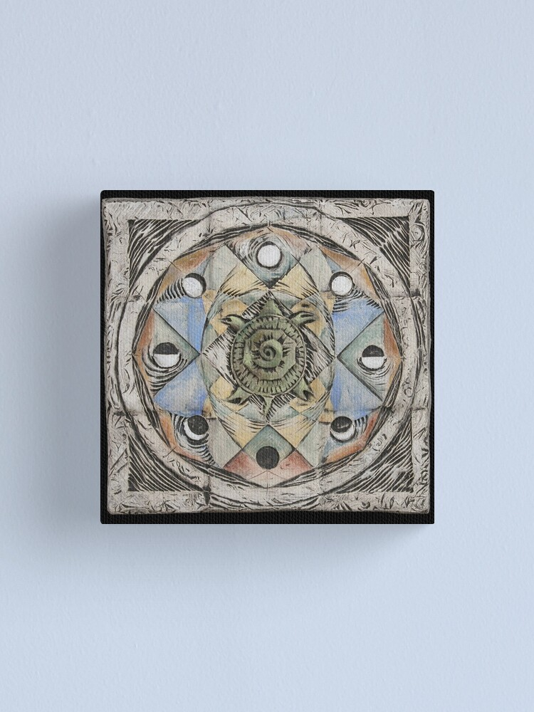 Alternate view of Spiral eight: cycles Canvas Print