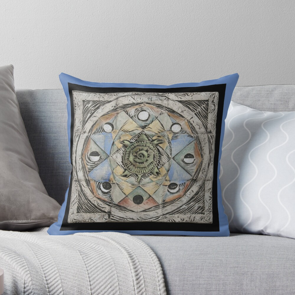 Spiral eight: cycles Throw Pillow