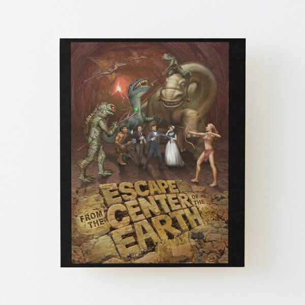 Escape from The Center of The Earth Wood Mounted Print