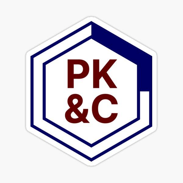 PK&C Logo — Hexagon Sticker