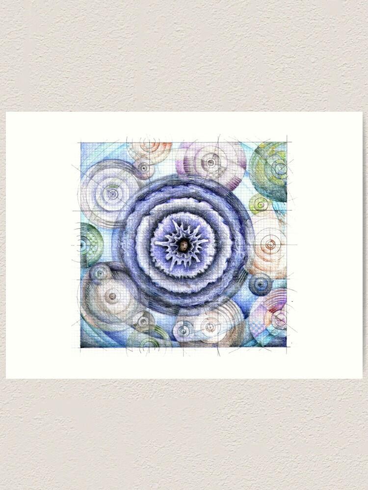 Alternate view of wheel 5: Co-Creative Patterning Art Print