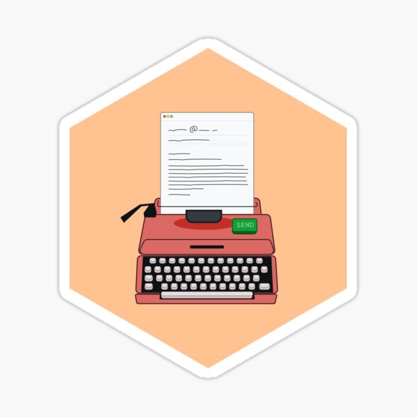 Cold Email for Interesting People — Typewriter Sticker
