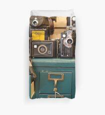 Retro Cameras Duvet Cover